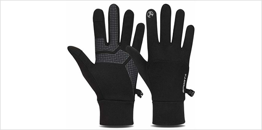 TOLEMI Thermal Gloves, Winter Gloves Running Warm Liner Gloves Anti-slip Touch Screen Gloves for Men Women Sport Walking Riding Driving Cycling from Amazon