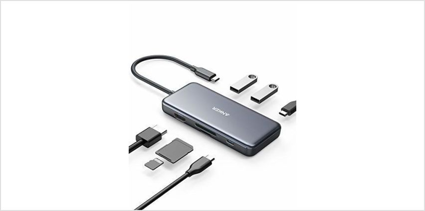 Anker USB C Hub, 7-in-1 USB C Adapter, with 4K USB C to HDMI, 100W Power Delivery, USB C Data Port, microSD/SD Card Reader, 2 USB 3.0 Ports, for MacBook Pro 2017/2018, Chromebook, XPS, and More from Amazon