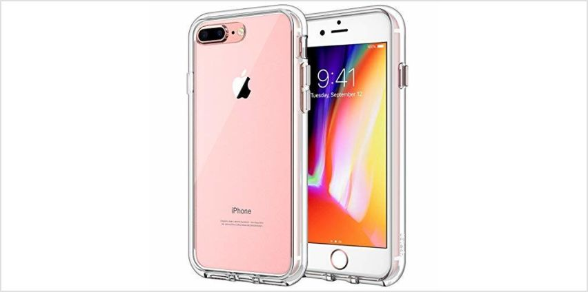 JETech Case for iPhone 8 Plus and iPhone 7 Plus, Shock-Absorption Bumper Cover, Rose Gold from Amazon