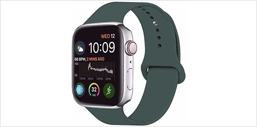 VIKATech Replacement Strap Compatible with Apple Watch Strap 44mm 42mm 40mm 38mm, Soft Silicone Strap Replacement Bracelet Strap for iWatch Series 5/4/3/2/1 from Amazon