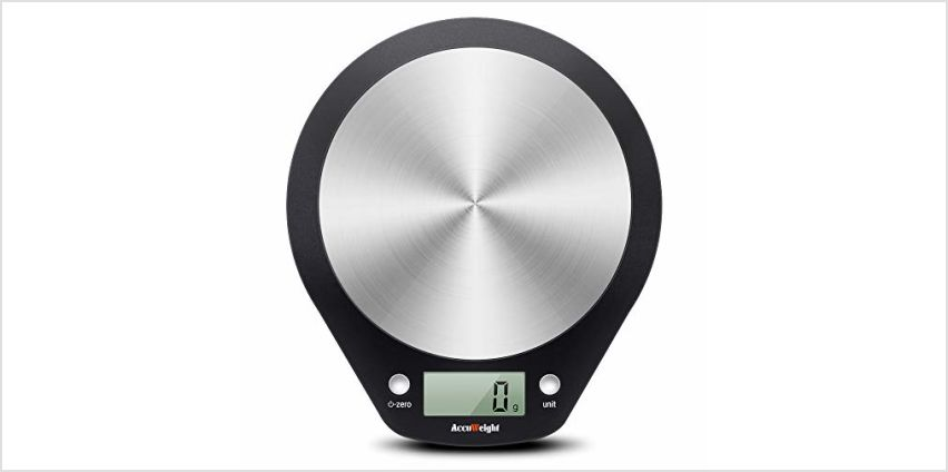 ACCUWEIGHT Digital Kitchen Scales Food Scale for Baking Cooking Electronic Stainless Steel Postal Scale for Home School Office, Liquid Measure Feature in ml & fl. Oz, 5000g, 0.1oz/1g from Amazon