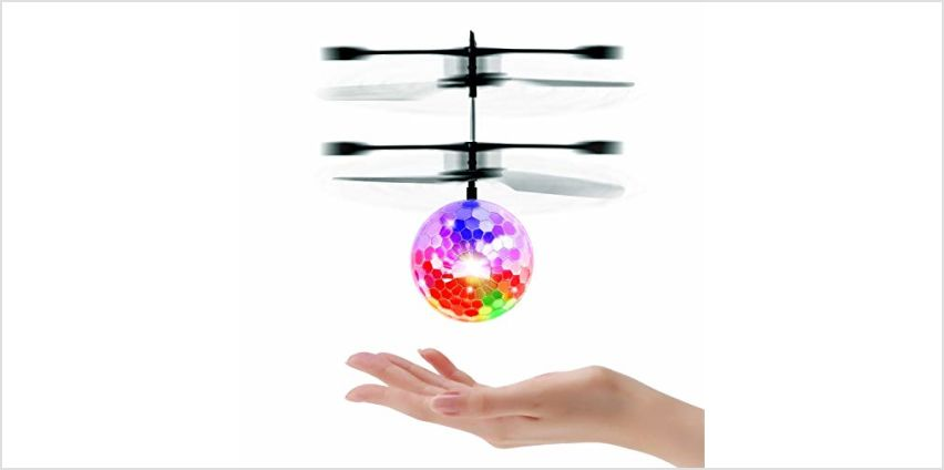 UTTORA Flying Ball, RC Helicopter Ball Kids Toys RC Infrared Induction Helicopter Fun Gadgets Mini Drone Flying Toys with Flashing LED Lights for Kids Adults from Amazon