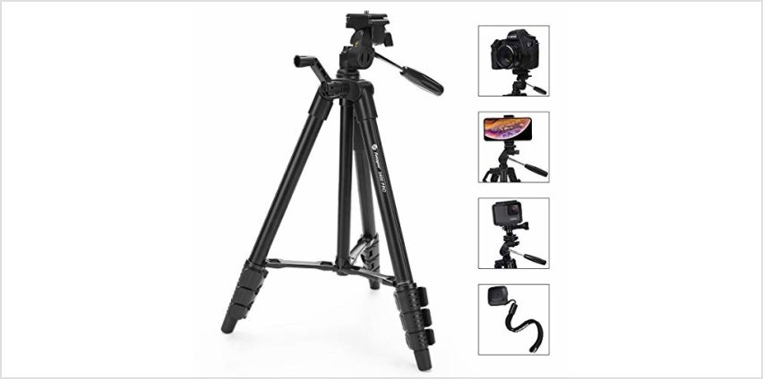 Fotopro Lightweight Compact Travel Tripod Set with Bluetooth Remote & Bag from Amazon