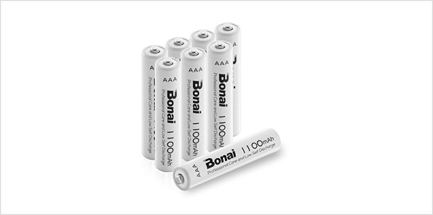 BONAI AAA Rechargeable Batteries, High Capacity 1200 Cycles 1.2V NiMH Rechargeable Battery from Amazon
