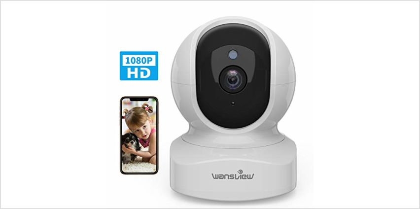 wansview WiFi IP Camera, 1080P Wireless Home Security Camera Q5 for Baby, Elder, Pet Camera Monitor with Motion Detection 2-Way Audio Night Vision Pan Tilt Zoom, Works with Alexa (Black) from Amazon
