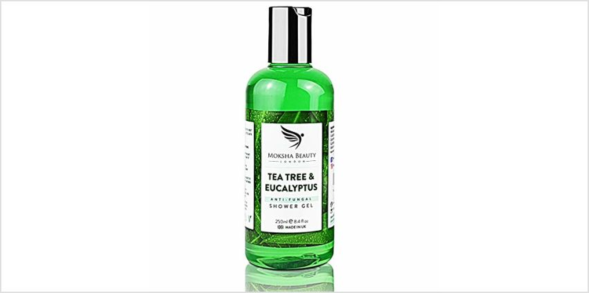 Tea Tree Oil Antifungal Soap – [Made In UK] 100% Natural | Shower Gel Body Wash | Kills Bacteria | Natural Cleanser Relieves Acne Odour Ringworm Jock Itch Nail Fungus Athlete's Foot | 250ml from Amazon