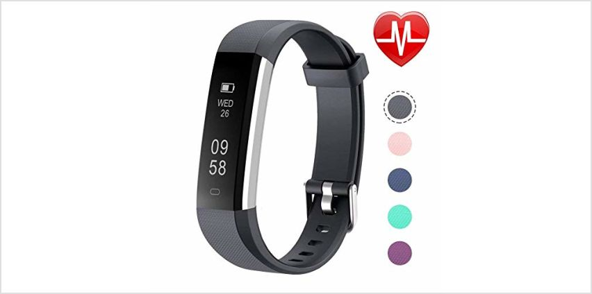 Letsfit Fitness Trackers with Heart Rate Monitor, Sleep Monitor, IP67 Waterproof Activity Tracker, Calorie Step Counter, Pedometer Fitness Watch for Kids Women Men from Amazon