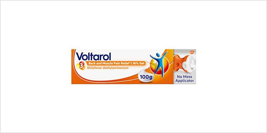 20% off Voltarol Back and Muscle Pain Relief 1.16% Gels from Amazon