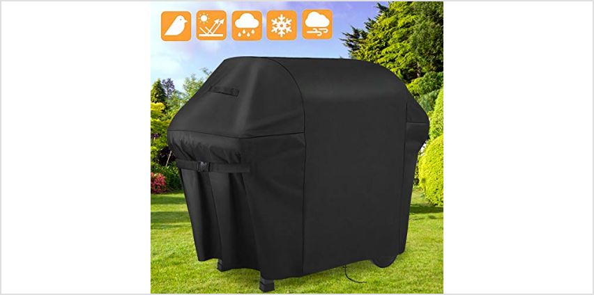 Sotor bbq cover, 600D barbecue cover 60 inch waterproof-2 3 4 burner BBQ Grill Cover Double Layers Oxford Fabric with PVC Coating, Anti-UV Rip-Proof Outdoor gas bbq cover Fits Weber Char Broil from Amazon