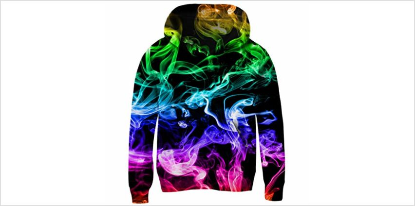 Belovecol Boys Girls Hoodies Long Sleeves 3D Real Printing Crop-Top Pullovers Sweatshirts Novelty Jumpers Kids 3-14 Year Old from Amazon