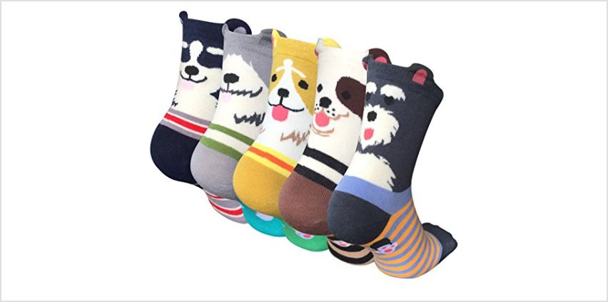 5 Pairs Womens Animal Socks Cute Funny Cotton Ladies Socks for Winter, One Size, Style 02 from Amazon