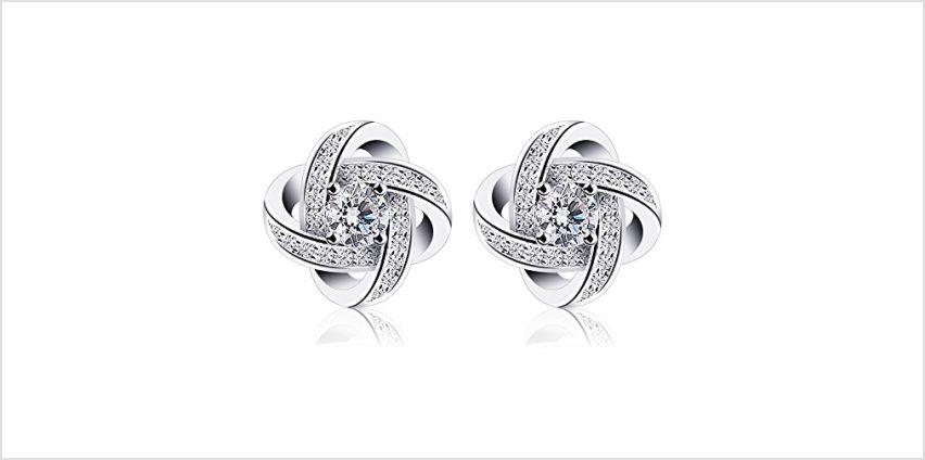 B.Catcher Earings for Woman Silver Earrings Studs Cubic Zirconia Gemini Sets from Amazon