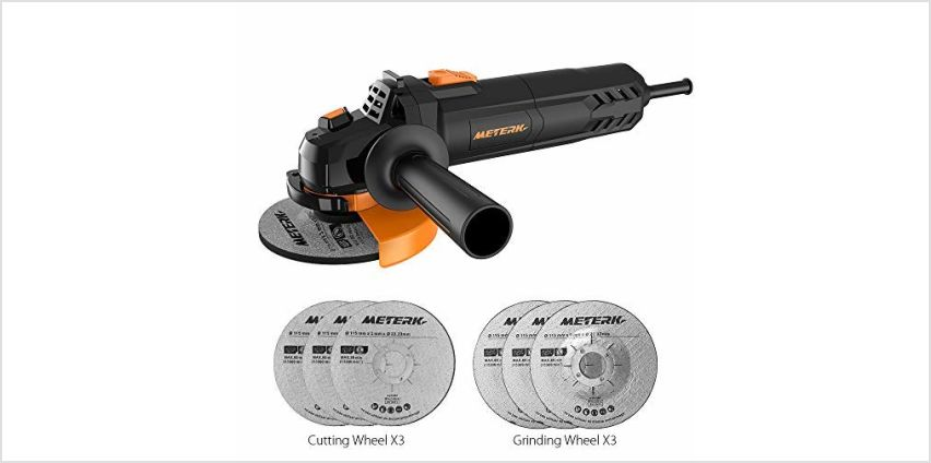 Angle Grinder,Meterk 750W 4-1/2inch with 115mm 3 Grinding Abrasive Wheels 3 Cutting Abrasive Wheels from Amazon
