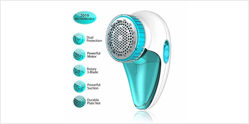 Aerb Fabric Shaver, Rechargeable Electric Lint Remover with USB Charging Cord & Extra Blade Included, 2-Speeds Portable Clothes Shaver with Three Blades for Efficient Bobbles Fuzz Removing from Amazon