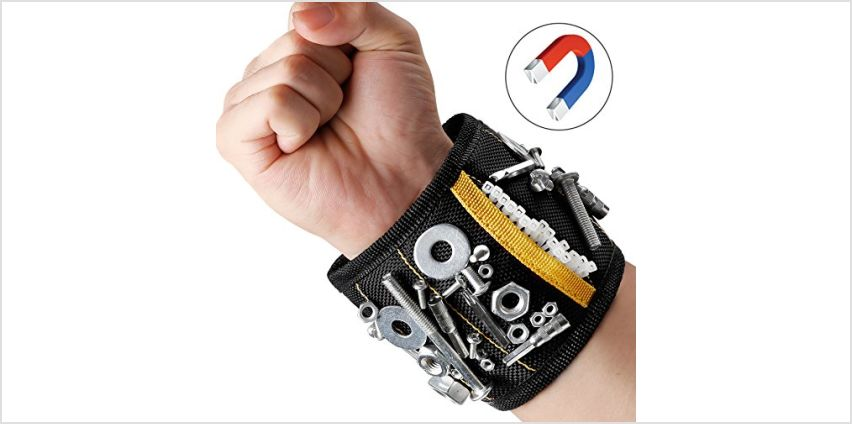 MYCARBON Magnetic Wristband 10 Powerful Magnets Magnetic Tool Wristband Tool Belt for Holding Tools, Screws, Nails, Bolts from Amazon