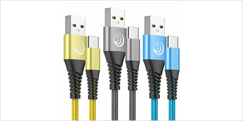 USB C Cable ,Type C Fast Charging Cable [2M 3Pack]Nylon Braided Compatible with Samsung Galaxy A10e/A20/A20e/A30/A40/A50/A70/S8/S9/S10/Note 8/9, Huawei P30 Pro/P20/Mate 30, Sony Xperia XZ,LG G7/V30 from Amazon