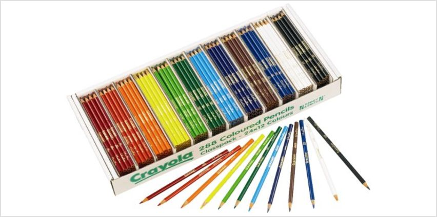 Save on Crayola 3.3685 Colouring Pencils 288 class Pack and more from Amazon