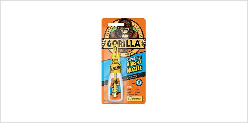 Save on Gorilla Super Glue Brush & Nozzle, 12 g and more from Amazon