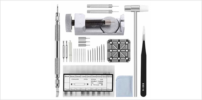 Watch Strap Link Removal Repair Tool,Watch Band Bracelet Pin Remover Adjustment Kit,Spring Bar Tool with Extra pins from Amazon
