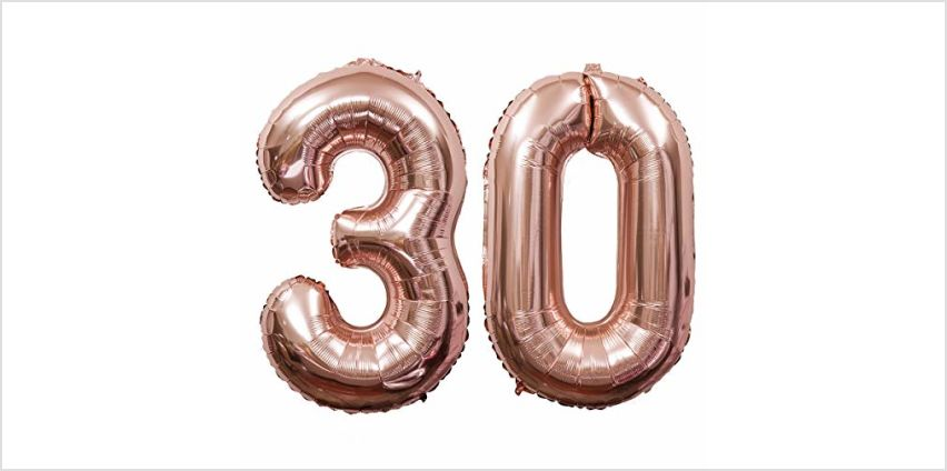 """Meowoo 21st birthday balloons Decorations Number Party Balloons, 2 pcs 2"""" and 1"""" Foil Helium Balloons for 21th Birthday Party (Silver) from Amazon"""