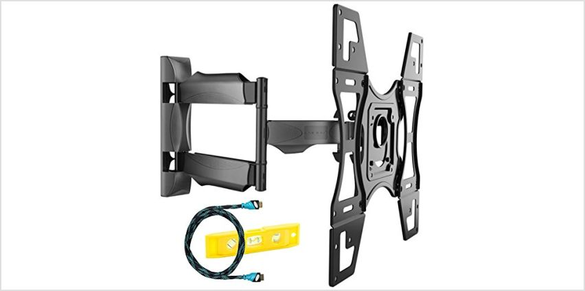 Invision Ultra Slim Tilt Swivel TV Wall Mount Bracket - For Most 26-60 Inch LED LCD Plasma & Curved TV Screens - Max VESA 400mm x 400mm - Now Includes 1.8m HDMI Cable (A2) from Amazon