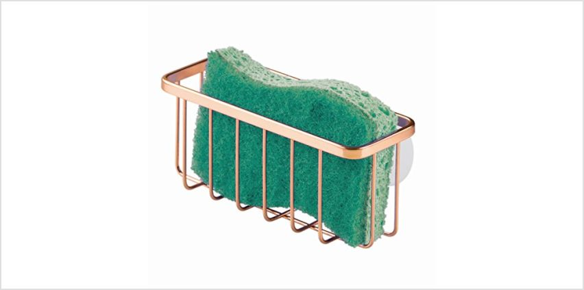 Save on InterDesign Gia Caddy, Dish Sponge Holder, Essential Kitchen Sink Organiser, Metal, Copper and more from Amazon