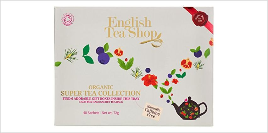 Save on English Tea Shop Organic Super Tea Collection (Pack of 48 Tea Bags) and more from Amazon