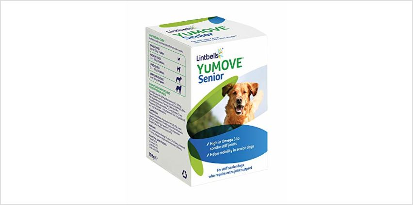 15% off Lintbells YuMOVE Senior Dog Joint Supplement for Older Stiff Dogs from Amazon