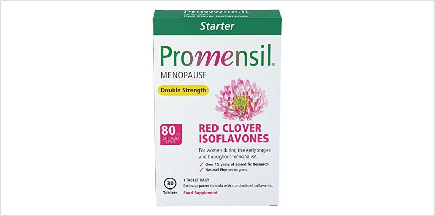Save on Promensil Menopause | Double Strength Starter | Red Clover | Isoflavones | 80mg | 30 Tablets and more from Amazon