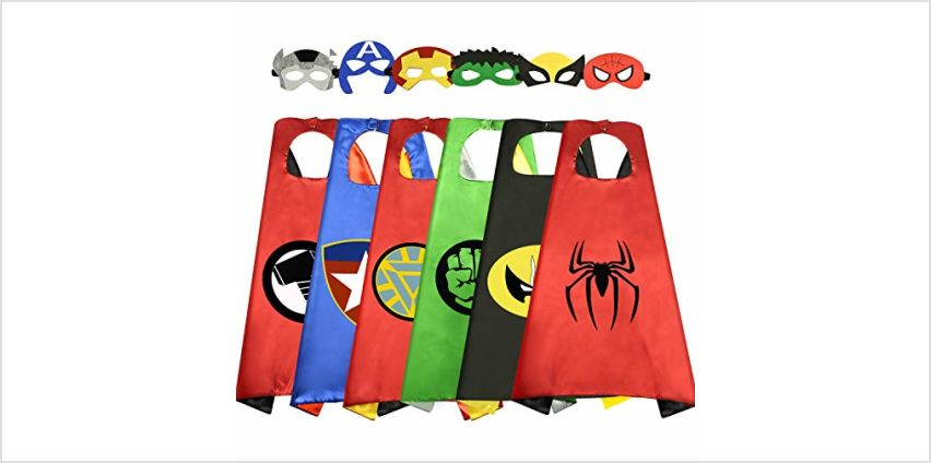 WIKI Cool Toys for 5-12 Year old Boys Girls, Superhero Capes for Kids Christmas Birthday Gifts Presents for 3-12 Year Old Girls Boys Halloween Toys Age 4-5 Stocking Stuffers Party Supplies Dress Up from Amazon