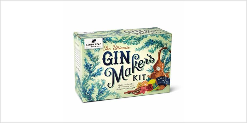 Sandy Leaf Farm Ultimate Gin Maker's Kit - Make ten big bottles of your own gin - Flavours including classic citrus, chocolate orange, pink, Christmas and more from Amazon