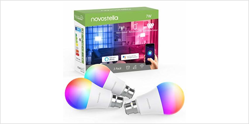 Novostella LED RGBCW Smart Bulb B22, WiFi Colour Changing Bayonet Bulb, Dimmable Tunable White, Work with Alexa Google Home IFTTT,7W 9W from Amazon