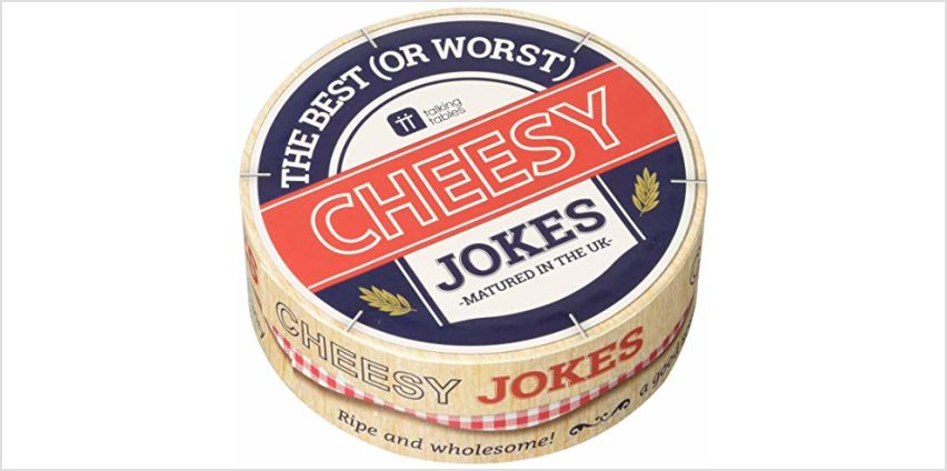 Talking Tables Cheesy Jokes for Fathers Day, Birthday or Christmas Presents, 64 Cards from Amazon