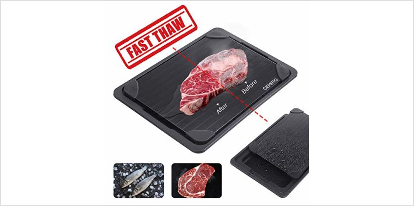 GEMITTO Aluminum Defrost Board Rapid Thawing Tray Without Electricity Chemicals Microwave for Thawing Frozen Food 34.5 x 24.5 x 3.5cm from Amazon