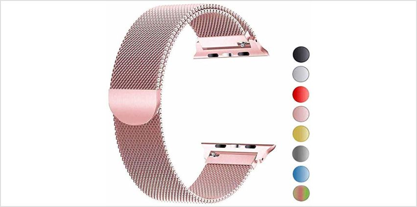 VIKATech Replacement Strap Compatible with Apple Watch Strap 44mm 42mm 40mm 38mm, Stainless Steel Replacement Bracelet Strap for iWatch Series 5/4/3/2/1 from Amazon