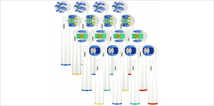 ITECHNIK Toothbrush Heads Compatible Oral b Electric Toothbrush Replacement Brush Head,for Oral-b Toothbrush Head Includes 4 Precision,4 Floss,4 Cross EB50&4 3D Whitening,16pcs from Amazon