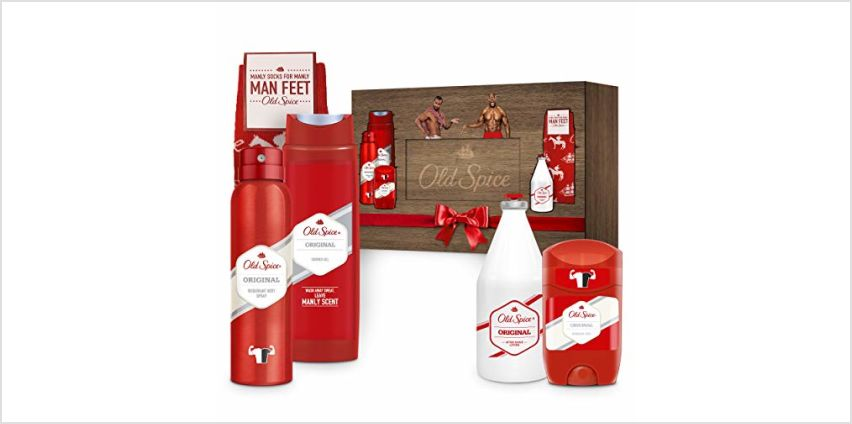 Save on Old Spice Original Gift Set For Men, Premium 4 Pack and more from Amazon