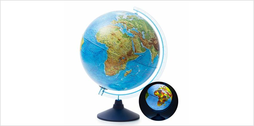 Exerz Illuminated AR GLOBE with Cable Free LED Lighting/ Day and Night Augmented Reality App iOS Android from Amazon