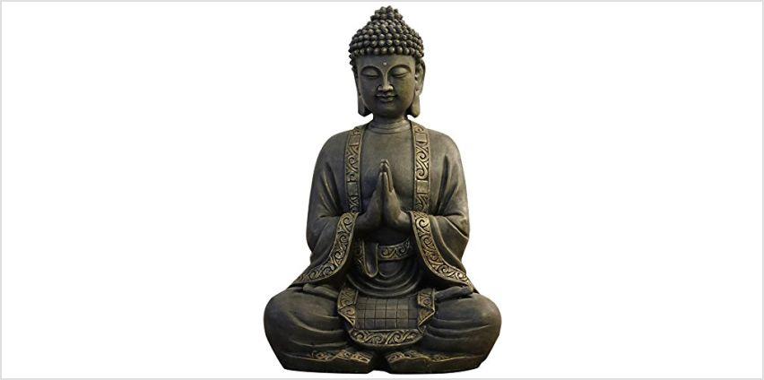 zen 'Light big statue Buddha mediation, resin, Bonze, 37.5x 15 x 24 cm from Amazon