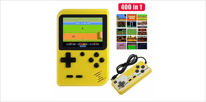 Diswoe Handheld Games Console, Portable Retro Game Player With 400 Classical FC Games 2.8-Inch Color Screen Handheld Gameboy Support TV Two Players 800mAh Rechargeable Battery Gift for Kids and Adult from Amazon