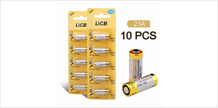LiCB 23A A23 12V Alkaline Battery (10PCS) from Amazon