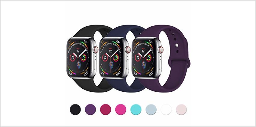 Lerobo Sport Strap Compatible with Apple Watch 38mm 42mm 40mm 44mm, Soft Silicone Replacement Classic Strap for iWatch Series 4, Series 3, Series 2, Series 1, 16 Colours from Amazon