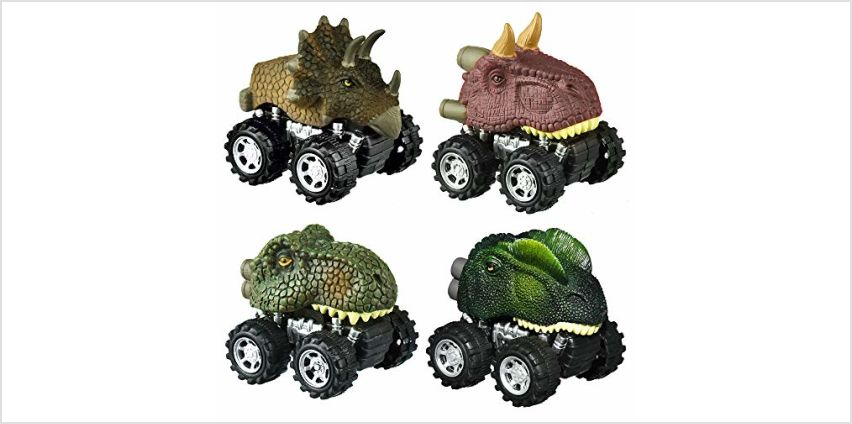 SOKY Pull Back Dinosaur Cars - Best Gifts for Kids from Amazon