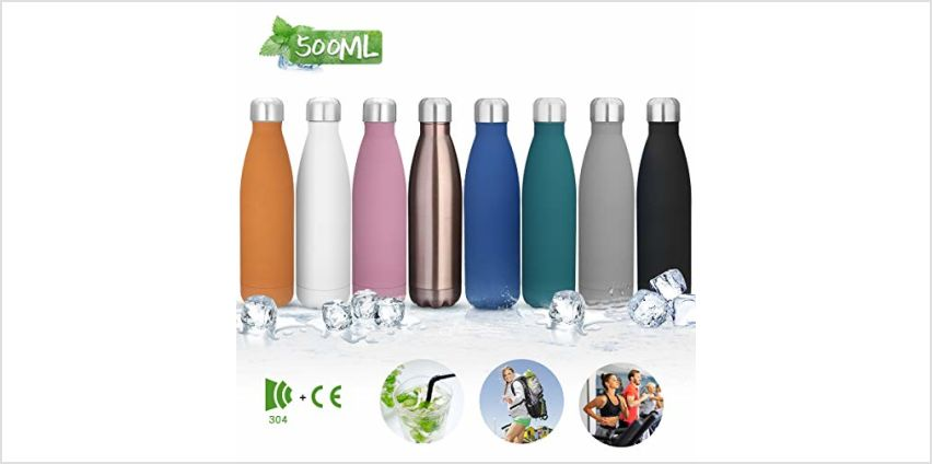 king do way Insulated Stainless Steel Water Vacuum Bottle Double-walled for Outdoor Sports Hiking Running, 500 ml /17 oz (Purple) from Amazon