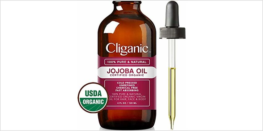 Certified Organic Jojoba Oil 473ml with Pump | 100% Pure Natural Cold Pressed Unrefined, Hexane Free Carrier Oil | for Hair Face & Nails | Cliganic 90 Days Warranty from Amazon