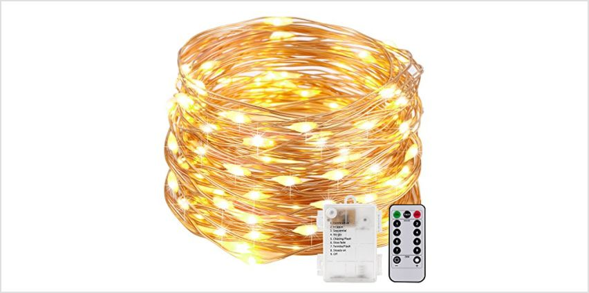 String Lights LED USB Decorative Rope Lights, Remote Copper Wire for Bedroom Patio Garden Party Wedding Commercial Lighting from Amazon
