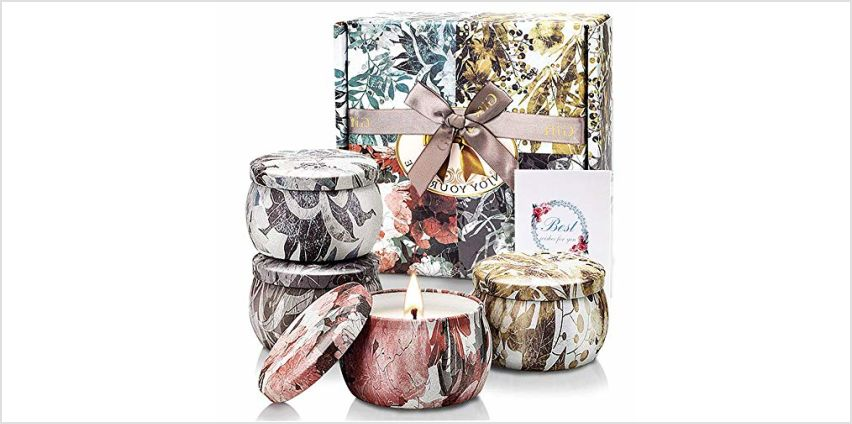 YMing Scented Candles Gift Set, Aromatherapy Candle for Her, Women's Gift for Stress Relief Birthday Bath Yoga Birthday Party Anniversary from Amazon