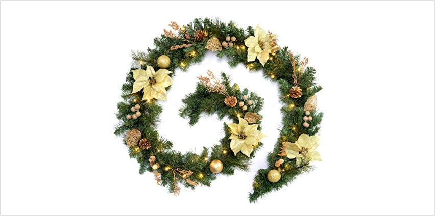 20% off Christmas wreaths and garlands from Amazon
