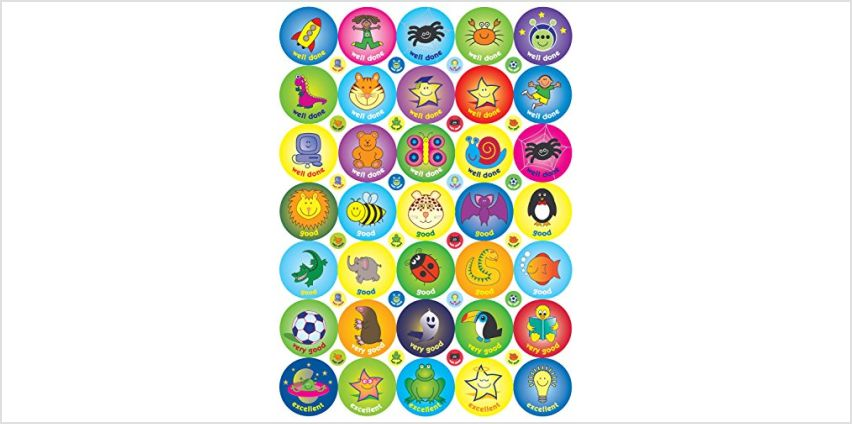 Save on The Sticker Factory 70 x 38 mm and 48 x 10 mm A4 Compilation Sticker (Pack of 118) and more from Amazon