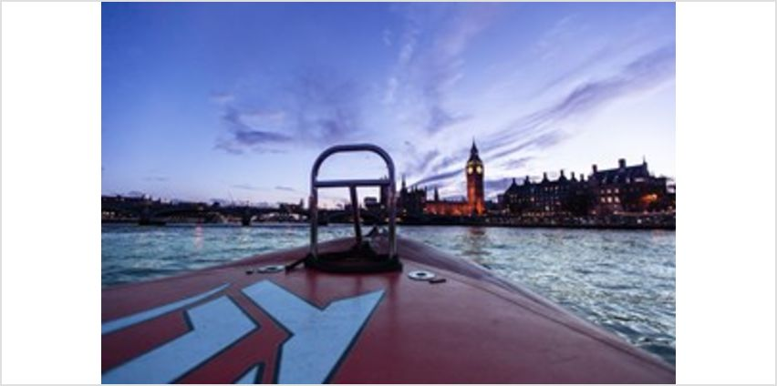 Thames Rockets Evening Powerboating Experience with Cocktails for Two from Buy A Gift